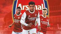 Arsenal - Houssem Aouar, Philippe Coutinho, James Maddison (Bola.com/Adreanus Titus)