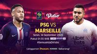 Liga Prancis PSG vs Marseille di Vidio. (Foto: Vidio)