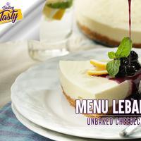 Bosan dengan kue kering? Yuk, coba bikin cheesecake tanpa dipanggang! (Fotografer: Daniel Kampua/DI: M. Iqbal Nurfajri/Chef: Arum Sari)