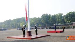 Citizen6, Jakarta: Upacara Peringatan HUT Ke-66 Proklamasi Kemerdekaan Republik Indonesia di Lapangan Upacara Mabes TNI Cilangkap, Jakarta Timur, Rabu (17/8). (Pengirim: Badarudin Bakri)