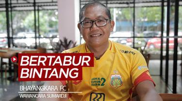 Berita video wawancara COO Bhayangkara FC, Sumardji, yang mengungkapkan secara singkat proses timnya menjadi bertabur bintang untuk Liga 1 2020.