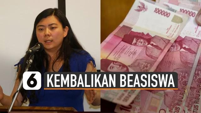 Veronica Koman diminta oleh pemerintah untuk kembalikan dana beasiswa LPDP. Karena tidak kembali ke RI sesuai waktu yang ditentukan.