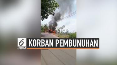 Polsek Cidahu masih menyelidiki identitas 2 mayat yang ditemukan di  dalam mobil di jalan antara Cidahu dan parakan Salak Sukabumi. Didiga mayat yersebut merupakan korban pembunuhan.