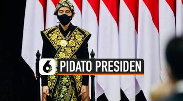 Presiden Jokowi menghadiri sidang tahunan MPR dalam rangka HUT RI dengan memakai baju adat Nusa Tenggara Timur.