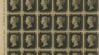 """Inggris menjadi negara pertama di dunia yang memakai perangko tempel. """"The Penny Black"""" adalah perangko tempel pertama yang dirilis ke publik pada 6 Mei 1840. (Publik Domain)"""
