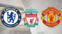 Tim Inggris dengan trofi terbanyak: Chelsea, Liverpool, Manchester United, Arsenal dan Aston Villa. (Bola.com/Dody Iryawan)