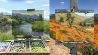 Lukisan Dengan Bingkai Pemandangan Alam (sumber: Boredpanda)