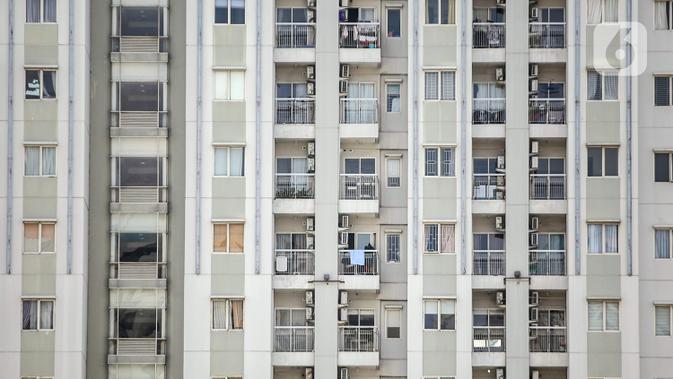 Suasana deretan unit apartemen di Jakarta, Selasa (28/7/2020). Tingkat hunian apartemen sewa pada kuartal II tahun ini berada di kisaran 66 persen hingga 67 persen. (/Faizal Fanani)