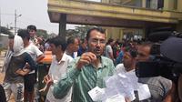 Pencari suaka menggelar unjuk rasa di gedung eks kodim Cengkareng, Jakarta Barat. (Liputan6.com/Ady Anugrahadi)