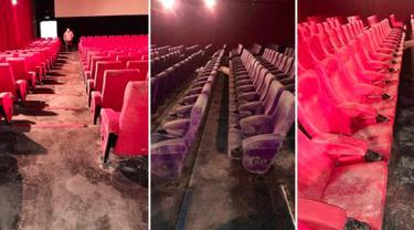 Akibat Lockdown, Potret Kursi Bioskop Dipenuhi Jamur Viral