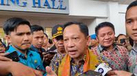 Menteri Dalam Negeri (Mendagri) Tito Karnavian meminta agar kepala desa jangan langsung diproses hukum, jika salah dalam input administrasi Dana Desa (Liputan6.com / Nefri Inge)