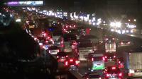 Kemacetan di Tol Cikampek tak terhindarkan. (Liputan6.com/Fernando Purba)
