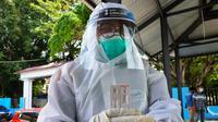 Papan sampel rapid test antigen yang menunjukkan reaktif dan nonreaktif dari hasil tes warga Kabupaten Musi Banyuasin Sumsel (Liputan6.com / Nefri Inge)