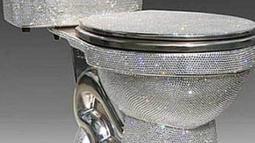 Bagaimana rasanya buang air di toilet seharga Rp 722 juta ini? Ya, toilet yang terbuat dari kristal Swarovski ini didesain oleh Jemal Wright. (ohmymag.com)