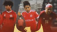 Timnas Indonesia - Bagus Kahfi, Natanael Siringoringo, Asnawi Mangkualam (Bola.com/Adreanus Titus)