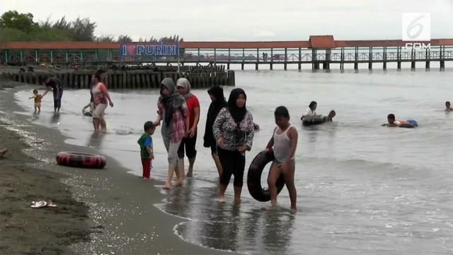 Efek peristiwa tsunami di Selat Sunda, wisata pantai di Pantura ikut sepi dari pengunjung.