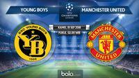 Jadwal Liga Champions 2018-2019, Young Boys vs Manchester United. (Bola.com/Dody Iryawan)
