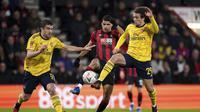 Arsenal lolos ke babak kelima Piala FA setelah menyingkirkan Bournemouth.(John Walton/PA via AP)