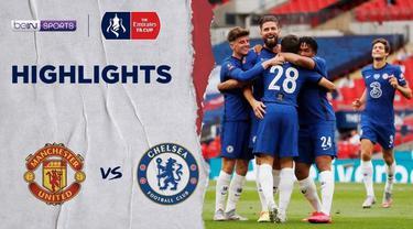 Berita video flashback highlights laga semifinal Chelsea mengalahkan Manchester United 3-1 untuk melaju ke partai final Piala FA 2019-2020 menghadapi Arsenal.