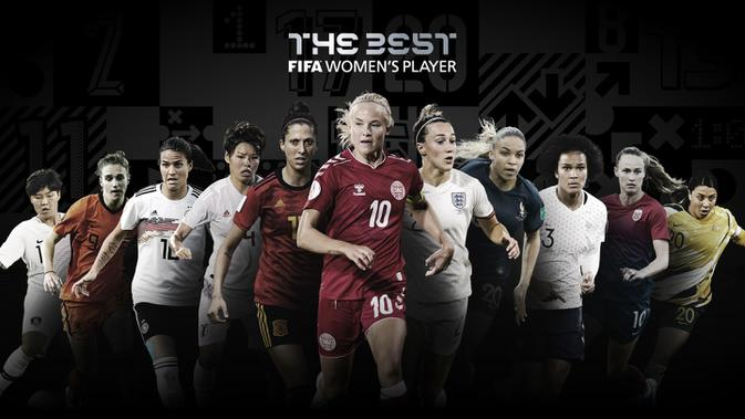 Nominasi pemenang pemain terbaik putri FIFA The Best Award 2020. (Dok FIFA)