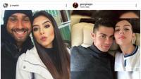 Kekasih Cirstiano Ronaldo, Georgina Rodriguez disebut mirip dengan Istri Claudir Marini, Rariana Marini. (Sumber: Instagram)
