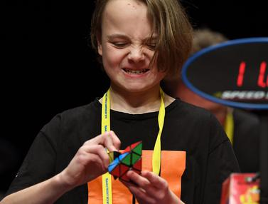 Semangat Anak-Anak Dunia Ikuti Kejuaraan Rubik di Australia