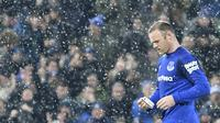 9. Wayne Rooney (Everton) - Masa kecil mantan penyerang Manchester United ini jauh dari kata menyenangkan. Namun berkat semangat dan kemampuannya mengolah bola, akhirnya ia menjadi salah satu striker terbaik di Dunia. (AFP/Paul Ellis)