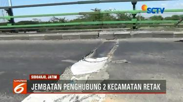 Kepala Dinas Pekerjaan Umum dan Perumahan Rakyat Sidoarjo Sigit Setyawan menilai keretakan bagian atas jembatan penghubung Kecamatan Tanggulangin-Tulangan masih relatif aman.