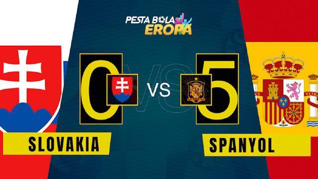 Berita video motion grafis, hasil pertandingan Euro 2020 antara Slovakia melawan Spanyol, Rabu (24/6/2021).