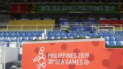Suasana dari Stadion Rizal Memorial di Manila, Senin (25/11). Lokasi ini akan menjadi venue cabang sepak bola SEA Games 2019. (Bola.com/M Iqbal Ichsan)