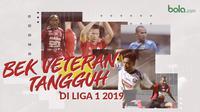 Bek veteran tanggung di Liga 1 2019. (Bola.com/Dody Iryawan)