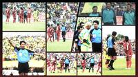 Kolase Purwanto, wasit Liga Indonesia. (Bola.com/Gregah Nurikhsani)