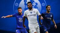Chelsea - Oliver Giroud, Emerson Palmieri, Marcos Alonso (Bola.com/Adreanus Titus)