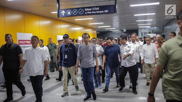 Usai Diresmikan Jokowi Ini Jadwal Operasional Mrt Jakarta News
