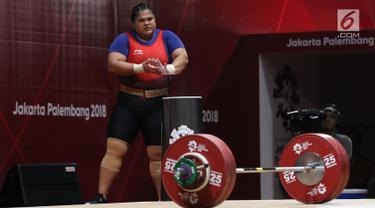 Nurul Akmal Gagal Raih Medali Terakhir Cabang Angkat Besi