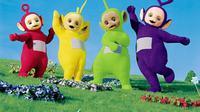 Tinky Winky, Dipsy, Laa laa, dan Poo. Sumber : telegraph.co.uk.