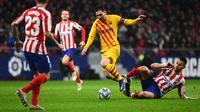 Aksi Lionel Messi saat Barcelona melawan Atletico Madrid (AFP)