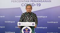 Juru Bicara Pemerintah untuk Penanganan COVID-19 di Indonesia, Achmad Yurianto saat konferensi pers Corona di Graha BNPB, Jakarta, Jumat (5/6/2020). (Dok Badan Nasional Penanggulangan Bencana/BNPB)