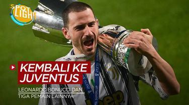 Berita video spotlight kali ini membahas tentang lima pemain yang bergabung dengan Juventus, salah satunya ialah Leonardo Bonucci.