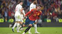 Kapten timnas Spanyol, Sergio Ramos. (AFP/JORGE GUERRERO)