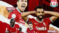 Liverpool - Roberto Firmino, Mohamed Salah, Diogo Jota, Sadio Mane (Bola.com/Adreanus Titus)