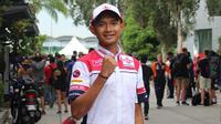 Dimas Ekky Pratama tampil perdana di ajang Moto2 di Sepang bersama Federal Oil Gresini Moto2.