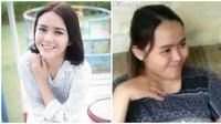 """Wanita sedang makan ini disebut """"kembaran"""" Amanda manopo, viral di medsos. (Sumber: Instagram/@amandamanopo/TikTok/@inge.ps)"""