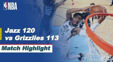 Berita video highlights NBA Playoffs, pertandingan antara Utah Jazz melawan Memphis Grizzlies, Selasa (1/5/2020).