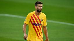 2. Gerard Pique - Performa apik Pique menjadikannya sebagai salah satu tembok pertahanan paling penting di Barcelona. Meski telah memasuki usia 33 tahun, Pique mampu membuktikan betapa penting dirinya bagi pertahan Barcelona. (AFP/ Pau Barrena)