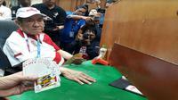 Orang terkaya di Indonesia Bambang Hartono menjadi atlet bridge dalam Asian Games 2018 (Foto: Liputan6.com/Ilyas I)