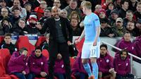 Manajer Manchester City, Pep Guardiola. (AFP/Anthony Devlin)