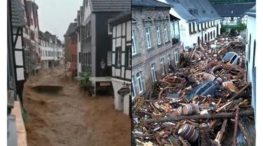 6 Potret Porak Poranda Jerman Usai Disapu Banjir Bandang