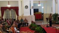 Presiden Jokowi membuka Musyawarah Nasional Persatuan Umat Buddha Indonesia (Permabudhi) di Istana Negara, Jakarta, Selasa (18/9/2018). (Liputan6.com/Hanz Jimenez Salim)