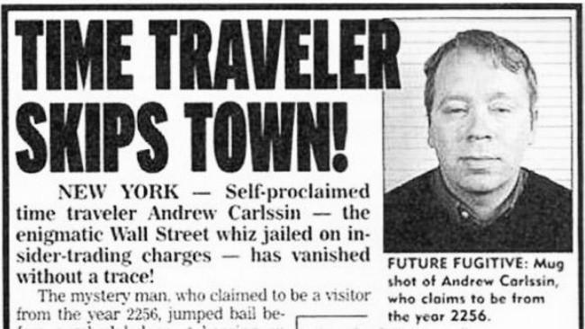 Terduga pelaku insider trading yang mengaku berasal dari masa depan. (Sumber Pinterest)